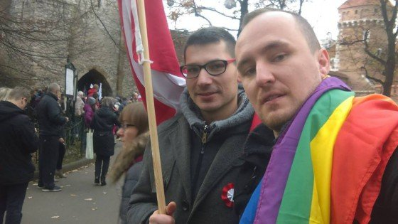 Jędrzej i Marek 11 listopada 2016 roku, fot. za: facebook.com/MarekJedrzejIdziakSepkowscy