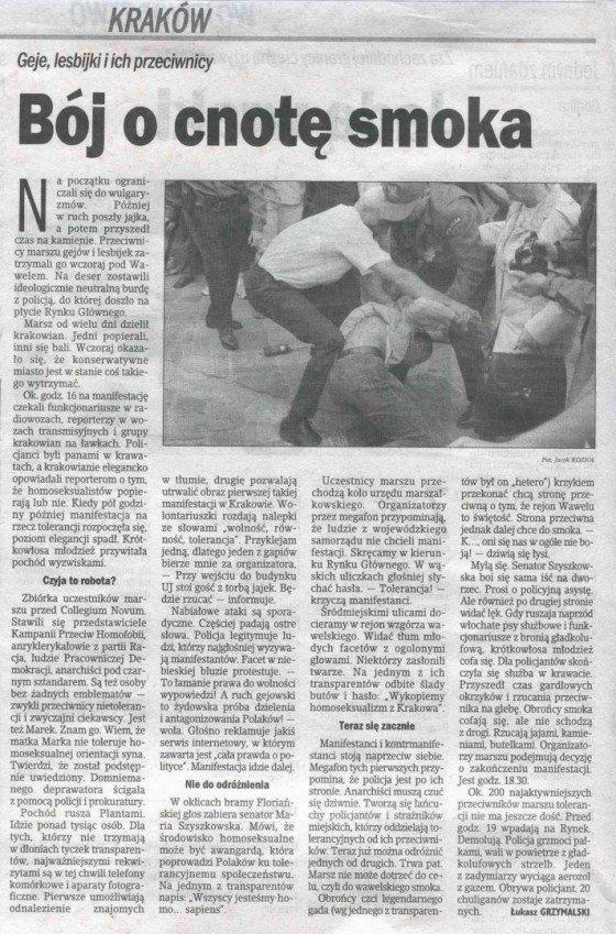 """Gazeta Krakowska"" z 08.05.2004"