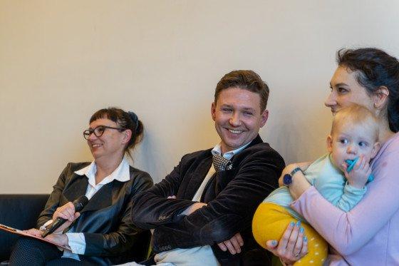 Dorota Stobiecka, Marcin Górski oraz Alex Knapik ze swoim cudownym synkiem