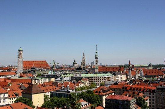 Widok z tarasu hotelu Deutsche Eiche