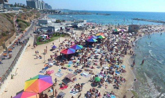 Hilton Beach w Tel Awiwie
