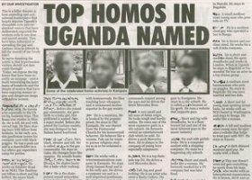 Uganda tropi homoseksualistów w gazecie