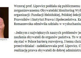 Lipowicz rozmawia z organizacjami LGBT