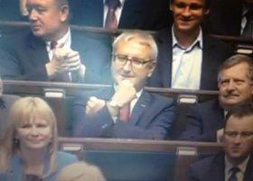 Poseł Pięta i gest Kozakiewicza