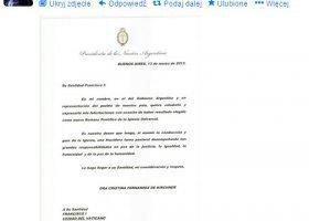 Władze Argentyny niezadowolone z wyboru papieża