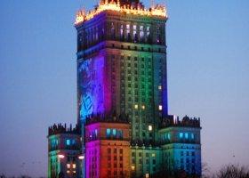 Pałac Kultury i Nauki na tęczowo?
