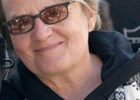 Agnieszka Holland na Paradzie Równości