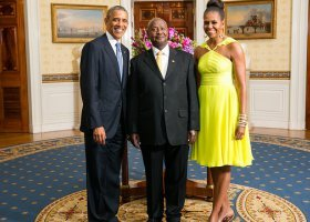 Prezydent Ugandy w Białym Domu