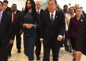 Conchita w siedzibie ONZ