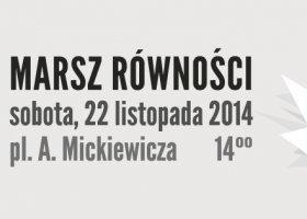 Poznań: już jutro Marsz Równości!