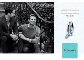 Reklama biżuterii ślubnej z gejami w roli głównej