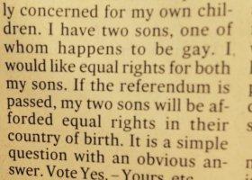 Chcę równych praw dla moich synów