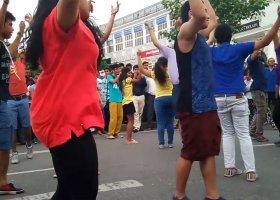 Pierwszy tęczowy flash mob w Delhi