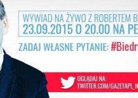 Dziś wieczorem Robert Biedroń na żywo w Gazeta.pl