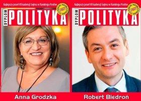 Grodzka i Biedroń wśród najlepszych posłów i posłanek kadencji
