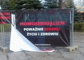 Krótki żywot homofobicznej wystawy w Krakowie