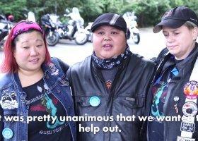 Lesbijski gang na motorach pomaga... małym dzieciom