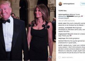 Melania Trump, czarna sukienka i bycie gejem