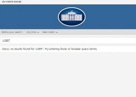 Strona Białego Domu bez LGBT