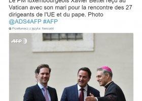 Premier Luksemburga z mężem w Rzymie