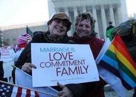 USA: coraz więcej ludzi za równością małżeńską