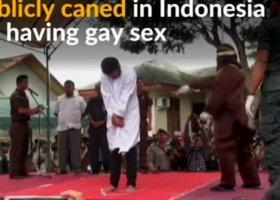 Publiczna chłosta i aresztowania gejów w Indonezji