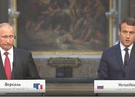 Macron o prawach LGBT i Czeczenii podczas spotkania z Putinem