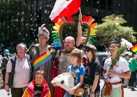 Tęczowo-polski pieróg na San Francisco Pride