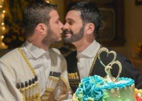 Wzięli ślub w tradycyjnym gruzińskim stroju