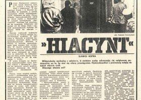 """Czy będzie film o akcji """"Hiacynt""""?"""