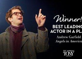 Andrew Garfield dedykuje nagrodę Tony osobom LGBTQ