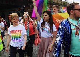 Premierka Szkocji na czele parady w Glasgow