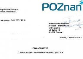Prezydent Poznania i Razem reagują na homofobiczny baner