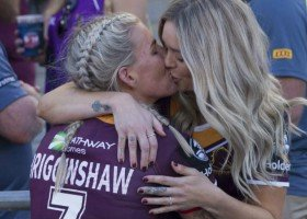 Wygrany mecz przypieczętowała pocałunkiem z dziewczyną