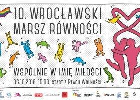 Wrocław: w sobotę 10. Marsz Równości