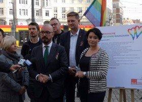 SLD Lewica Razem mówi tak LGBT+ dla Warszawy