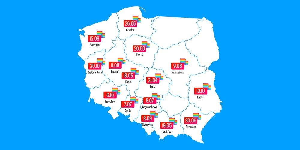 Marsze Równości w całej Polsce. Teraz!