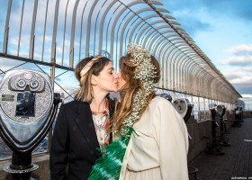 Wygrały konkurs i wzięły ślub w Walentynki w Empire State Building