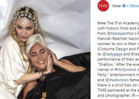 Madonna i Lady Gaga czule się obejmują po oscarowej gali!