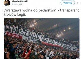 """Kibice Legii: """"Warszawa wolna od pedalstwa"""""""