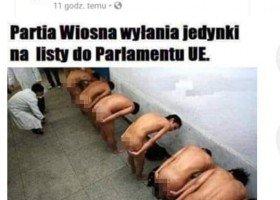 """Wulgarny i homofobiczny mem na Facebooku: tak radny PiS """"drwi"""" z Wiosny"""