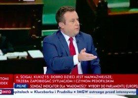 """TVP Info: prowadzący program """"Minęła 20"""" atakuje ujawnionego radnego"""