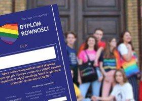 Przyznano Dyplomy Równości dla szkół wspierających uczniów LGBTQ+