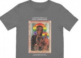 Amerykański Kościół Episkopalny sprzedaje koszulki z tęczową Matką Boską