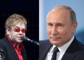 Elton krytykuje Putina, prezydent Rosji odpowiada