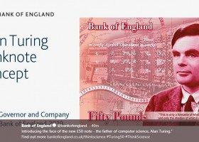 Alan Turing na nowych banknotach pięćdziesięciofuntowych