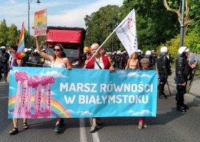 Zakończył się historyczny Marsz Równości w Białymstoku