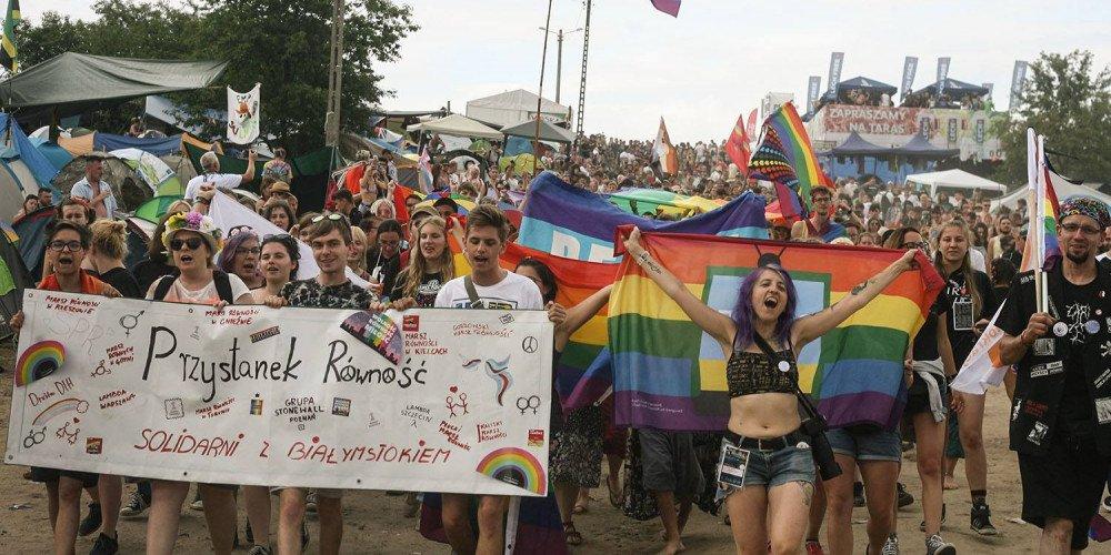 Marsz Równości na Pol'and'Rock Festival - relacja Moniki Tichy