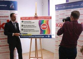 Kandydat PiS na posła obiecuje, że zatrzyma LGBT