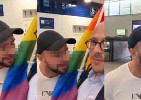 Działacz Lewicy Michał Piękoś zaatakowany za tęczową flagę